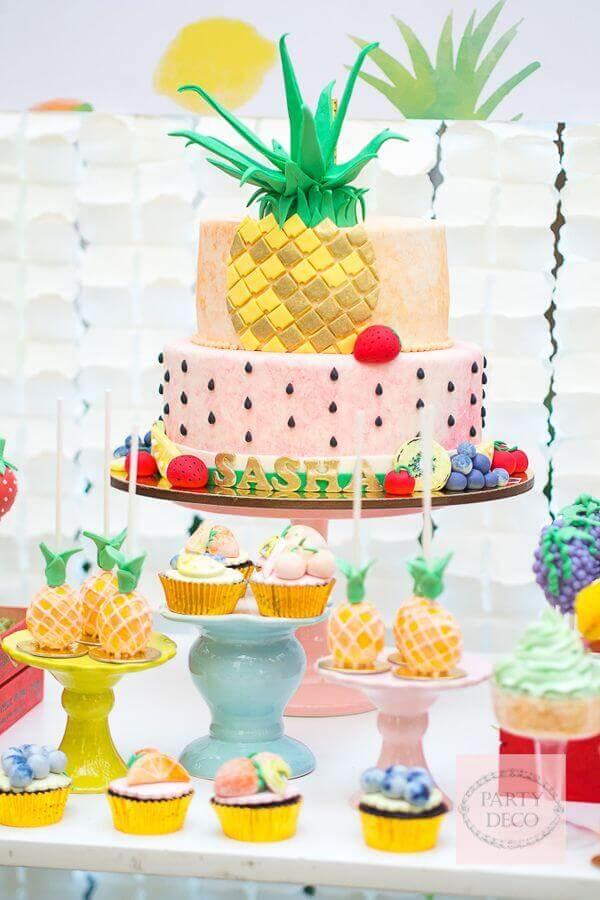 tropical party cake Foto Pinterest