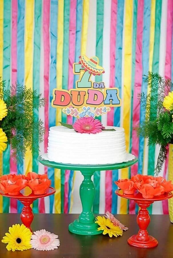idea of cake children's simple Mexican party Photo Pinterest