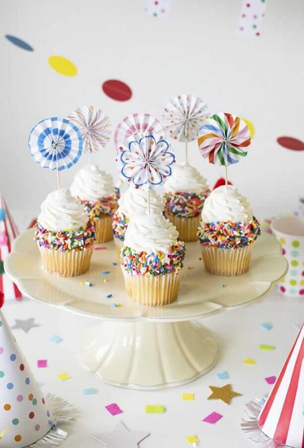 colourful decorated cupcakes for simple children's party Photo Ideas Decor