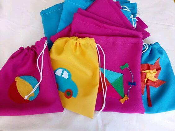 Colorful surprise bag