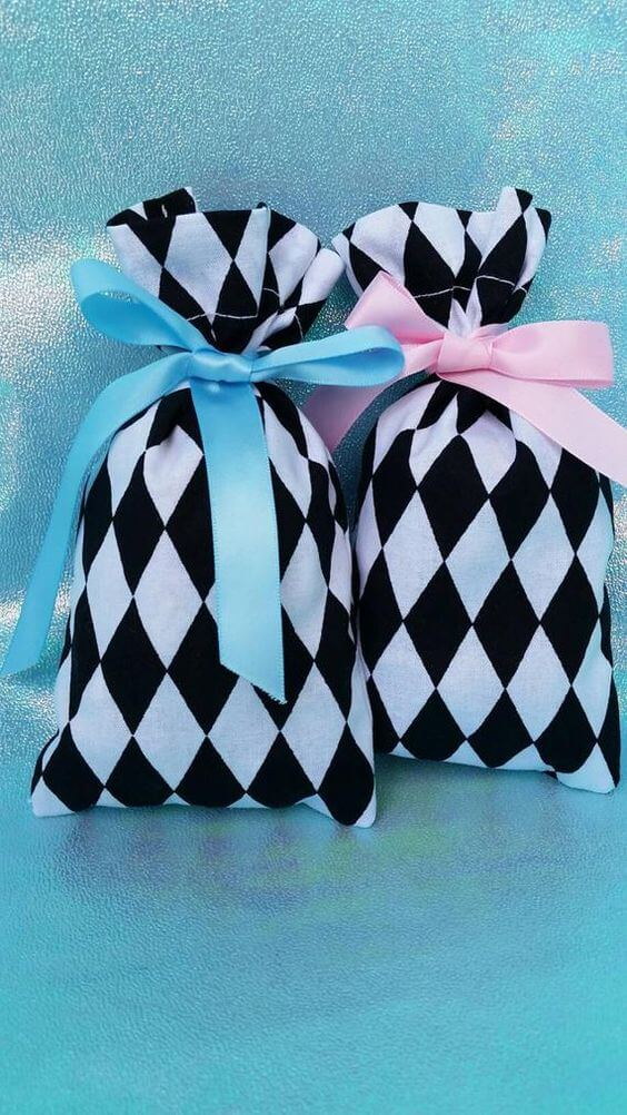 Black and white surprise bag