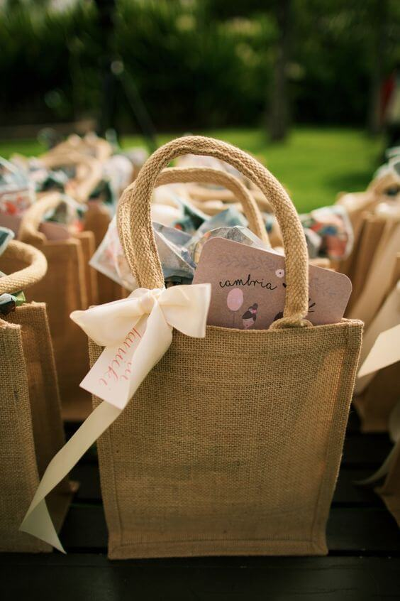 Surprise bag for party in the country
