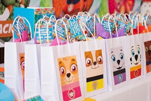 Surprise party bag theme canine patrol
