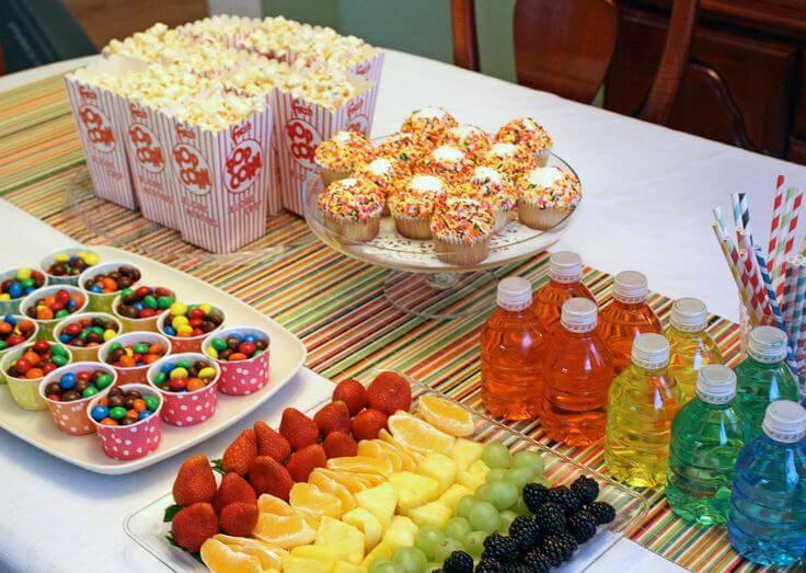 colorful fruit children's party decoration