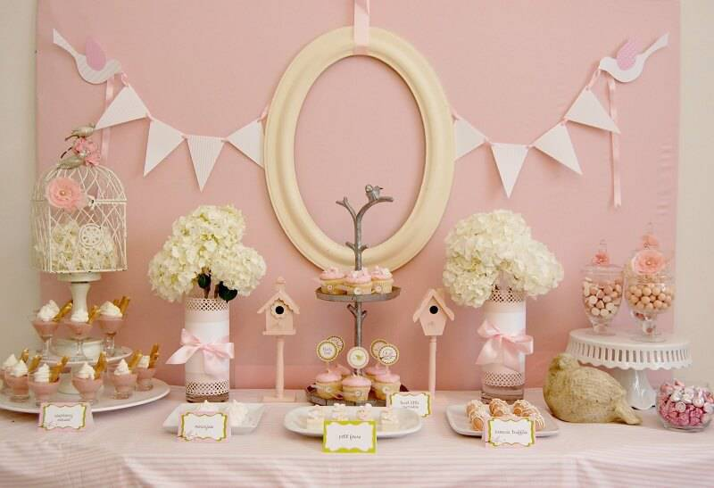 children's party decoration with background frame