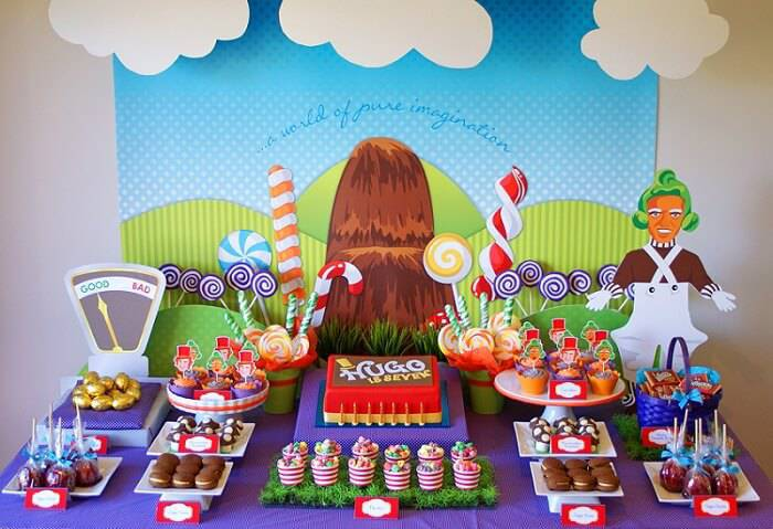 children's party decoration chocolate factory