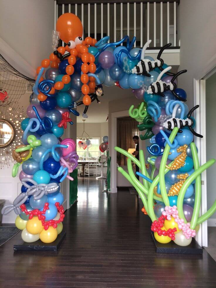 children's party decoration sea bow of bladders