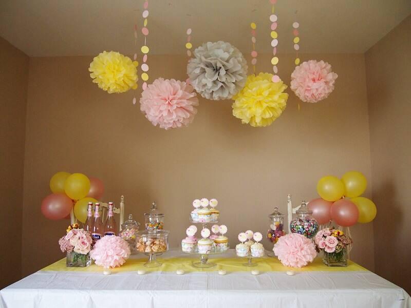 children's party decoration simple table