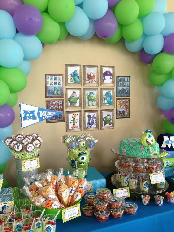 monsters children's party decoration