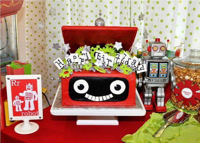 robot children's party decoration