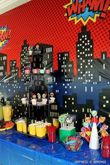 superhero children's party decoration