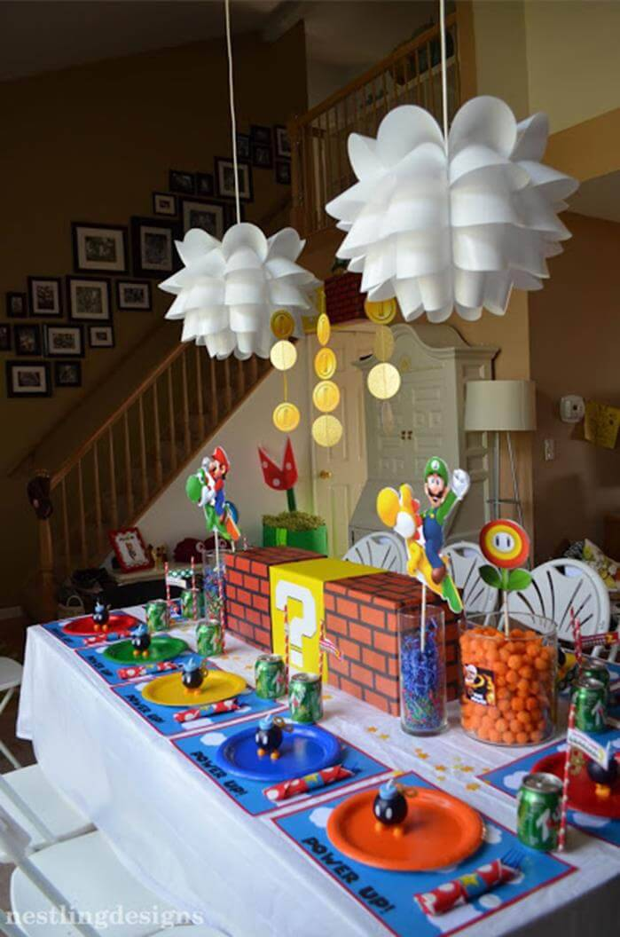 children's party video game decoration