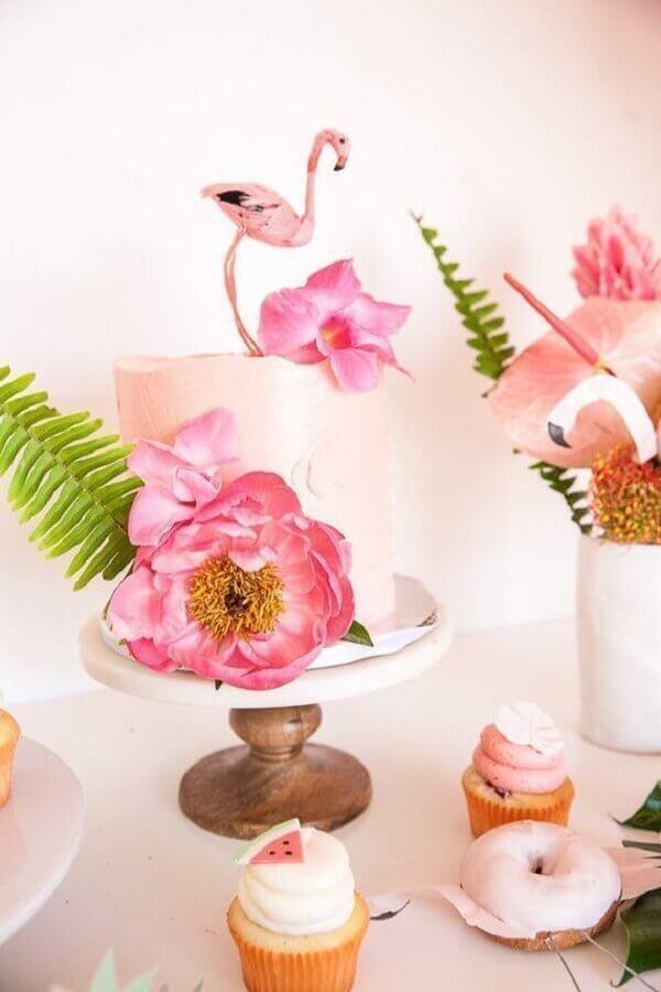 tropical flamingo party cake Foto Pinterest