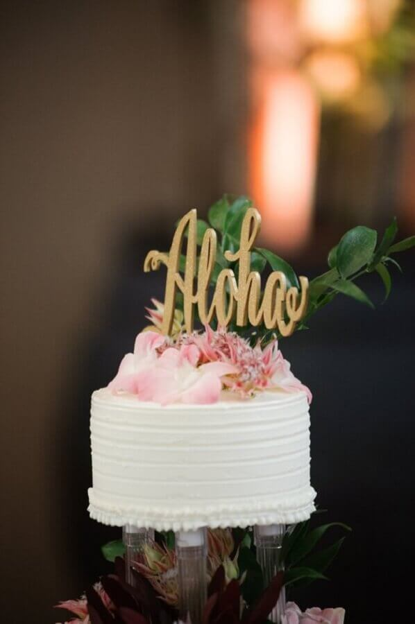 simple tropical cake Foto Etsy