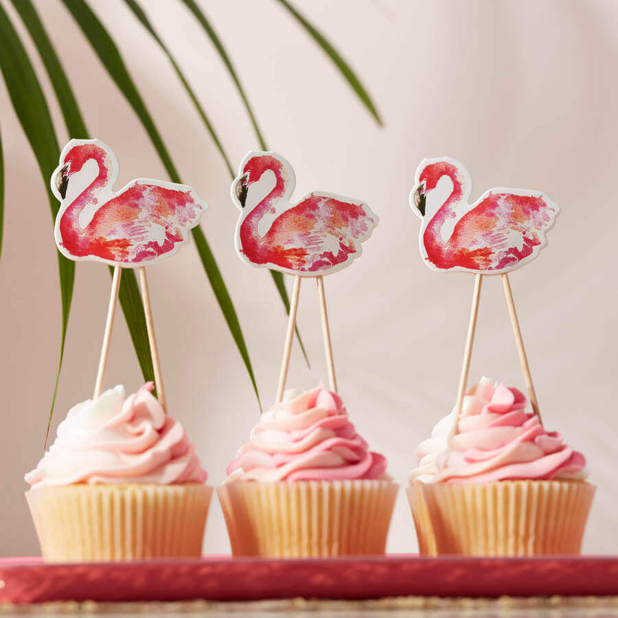 tropical flamingo party cupcakes Photo Not On The High Street
