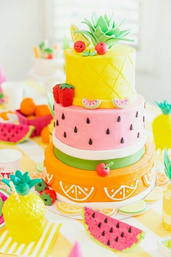 beautiful tropical cake model Foto Pinterest