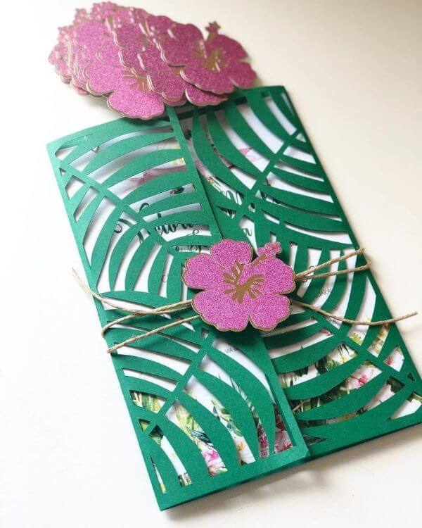 Invitation to tropical party