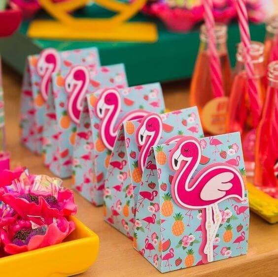 Tropical party with flamingos