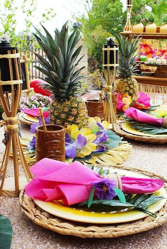 Tropical party at home