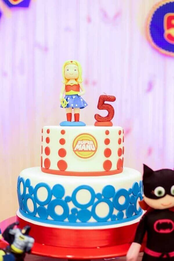 Wonder Woman Party Cake Photo Kara's Party Ideas