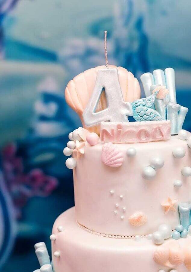 mermaid party cake Foto Ideias Decor
