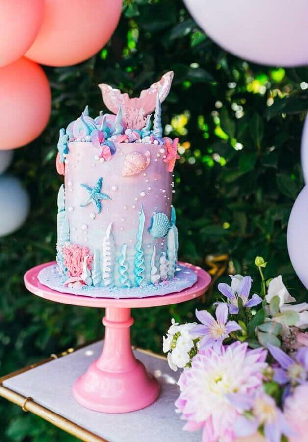 mermaid party cake Foto Zozu