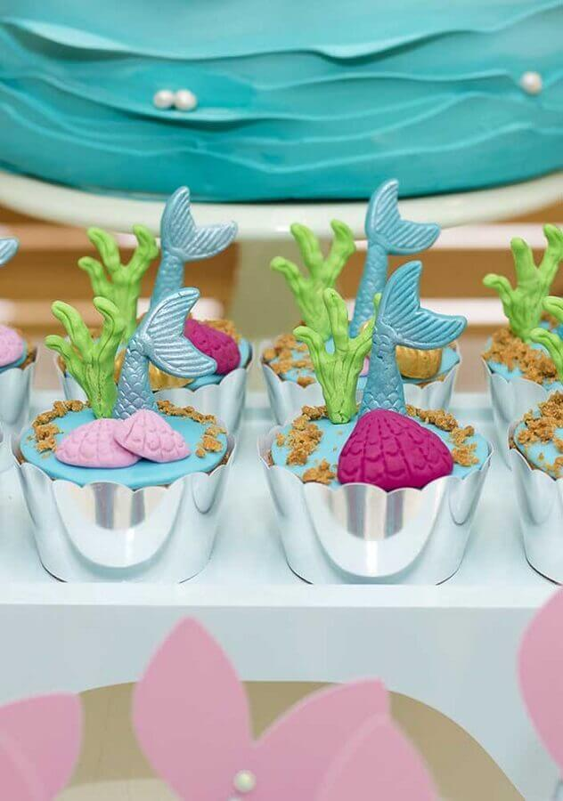 Personalized sweets with American folder for mermaid party Foto Zozu