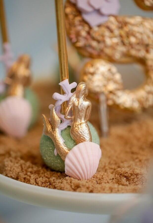 Personalized sweets for mermaid party Foto Pinterest