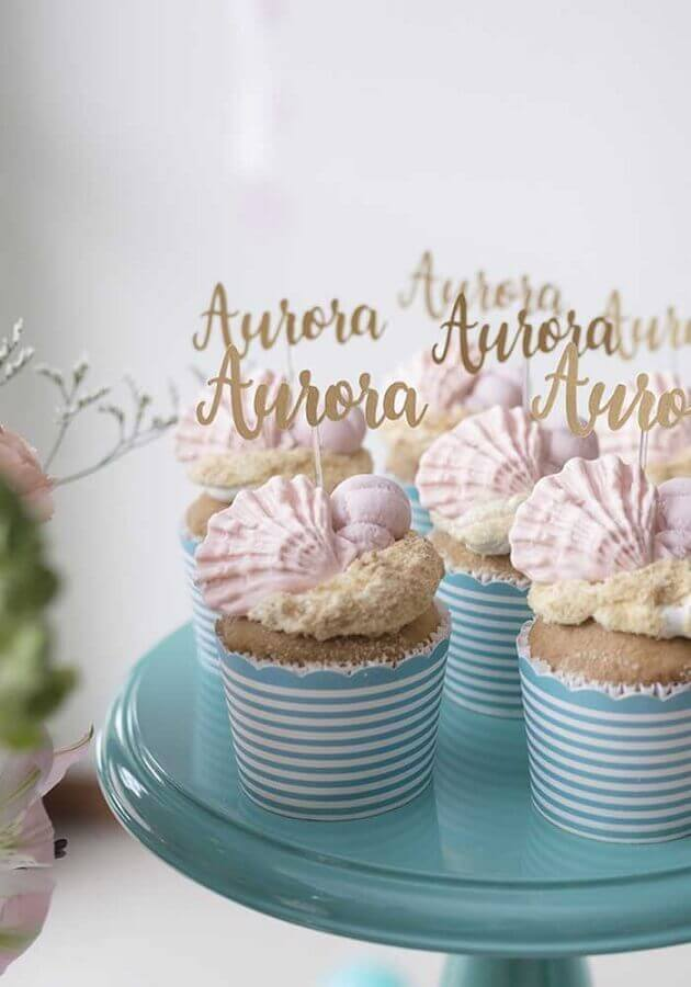 idea cupcakes decorated for mermaid party Foto Zozu