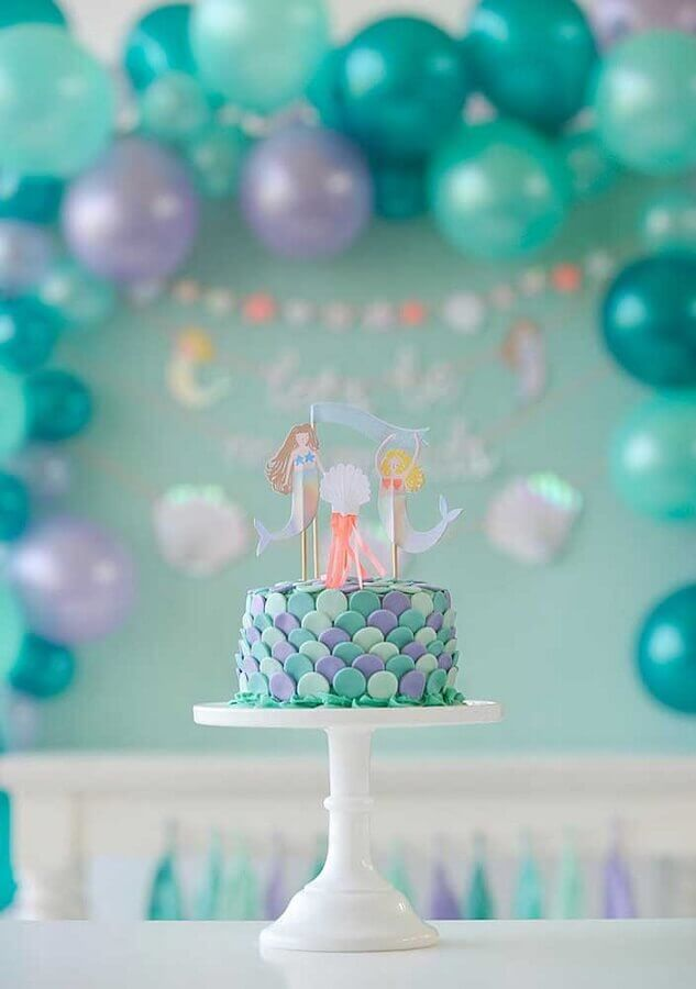 idea of mermaid party for simple mermaid party Foto Pinterest