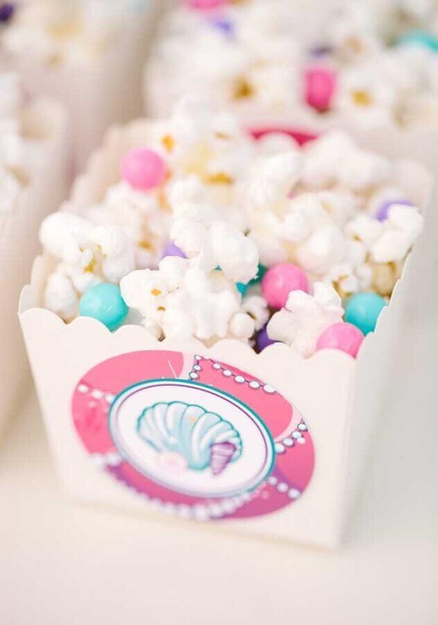 idea of popcorn for mermaid party Foto Casa e Festa