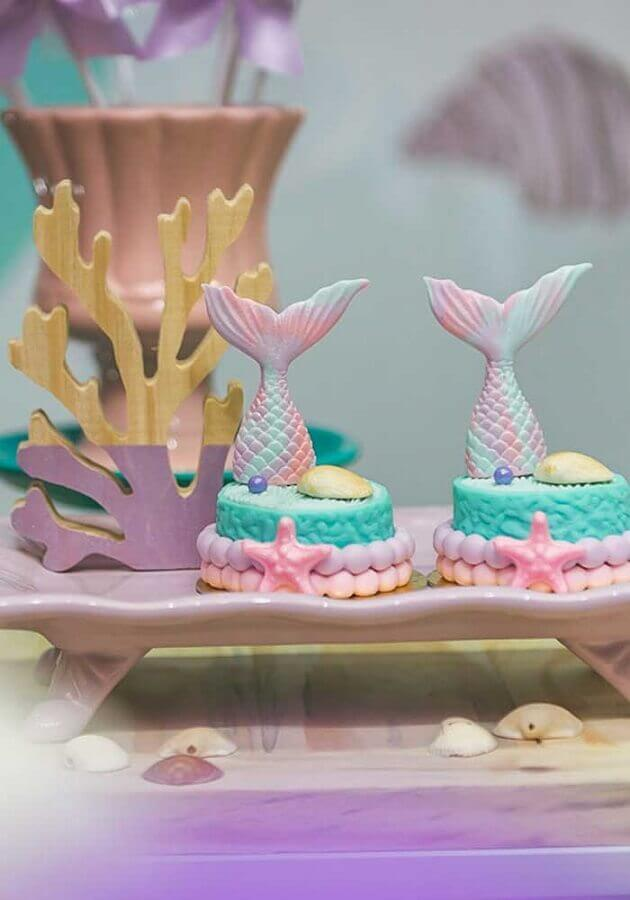 beautiful decorated sweets for mermaid party Foto Cake Ideas