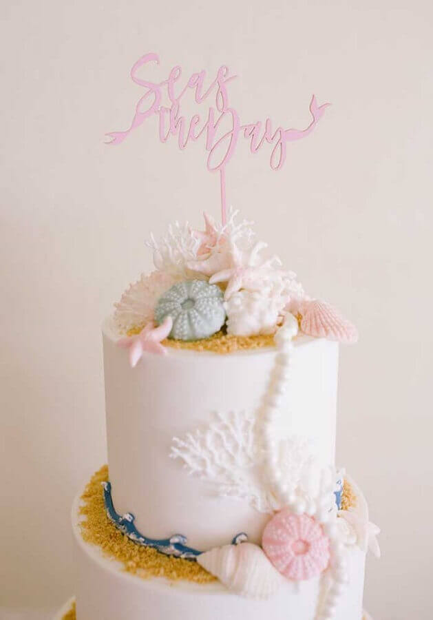 cake model decorated for mermaid party Foto Cake Ideas