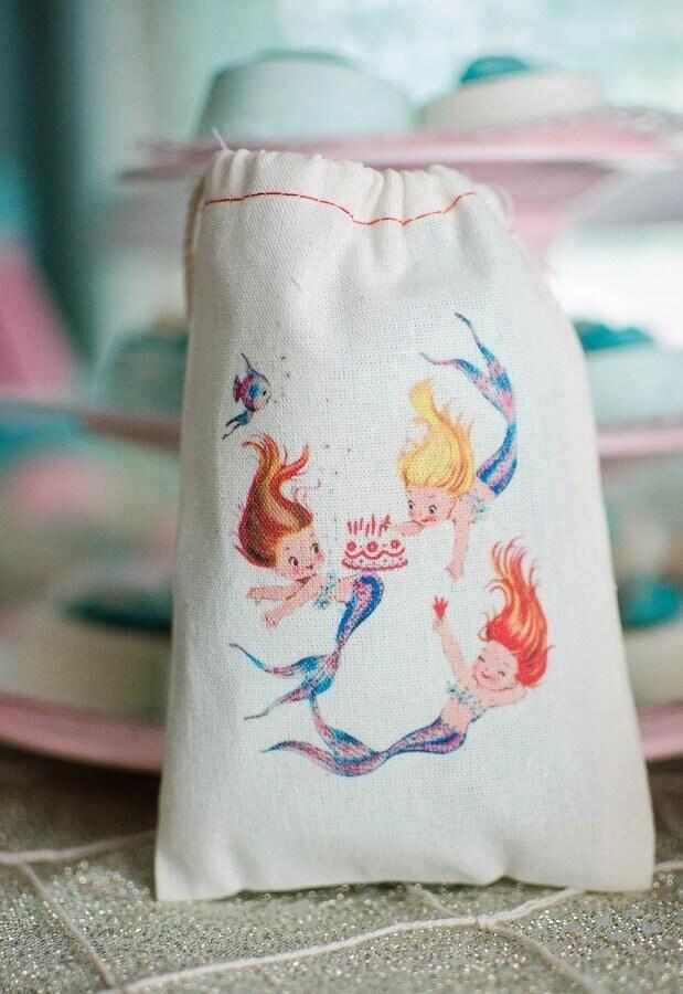 Personalized mermaid party souvenir bag Foto Catch My Party