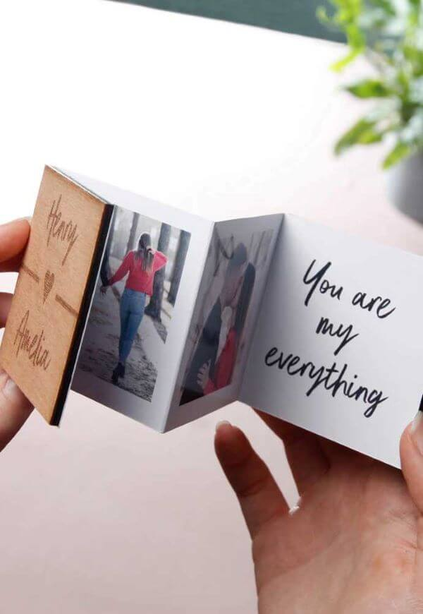 Giving your love is one of the best ideas for Valentine's Day. How about making a photo card?