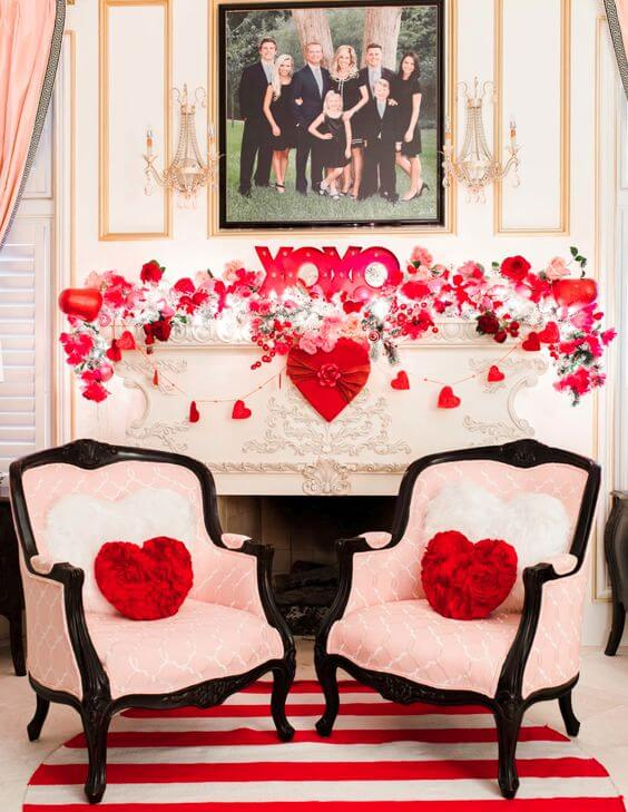 Valentine's Day ideas with a decorated house