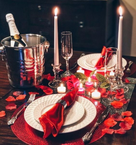 Valentine's Day ideas with candles
