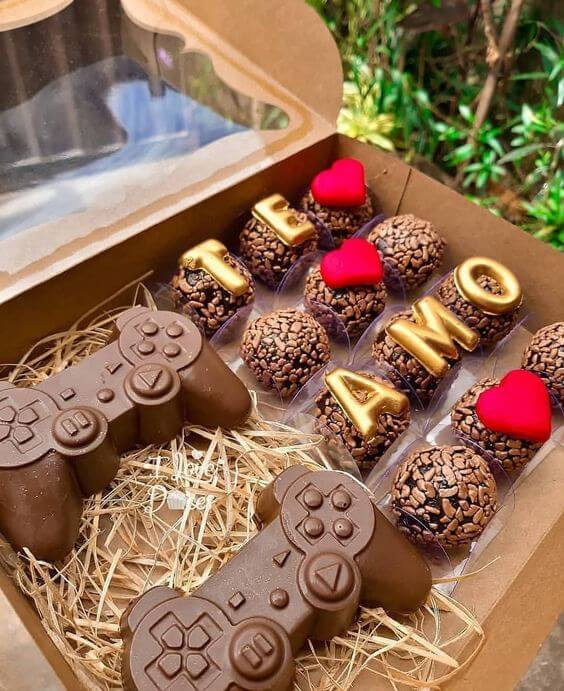 Box of chocolates, one of the main ideas for Valentine's Day
