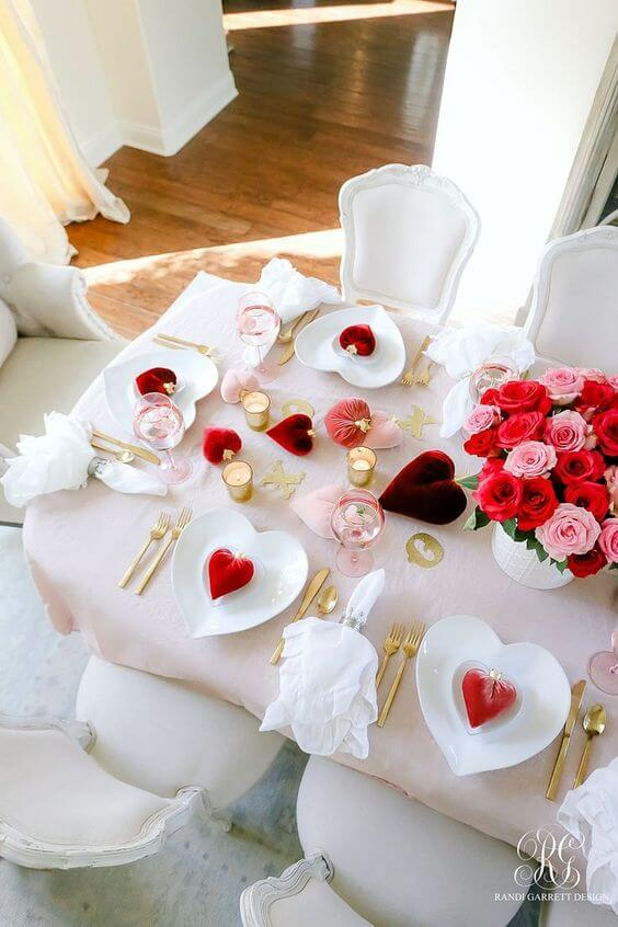 Valentine's Day Ideas with Red Hearts