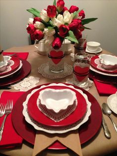 Valentine's Day ideas with red details