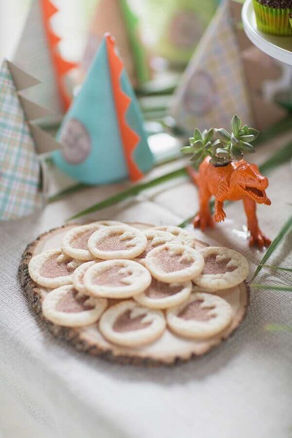 Personalized cookies with paws for children dinosaur party Photo Elephant Colour