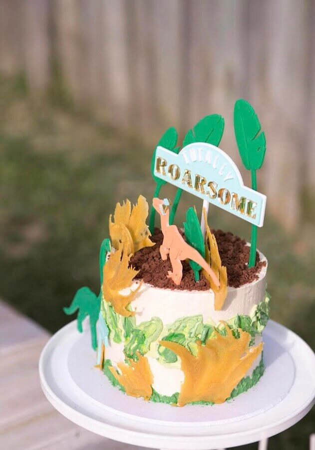 cake for kids party dinosaurs Photo Pinterest
