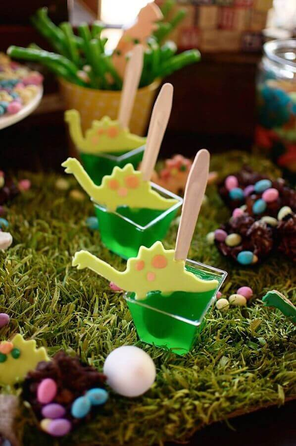 jelly bowls decorated for dinosaur party Photo Ideas Decor