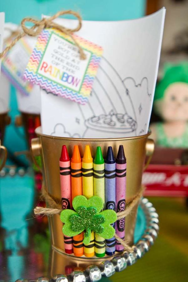 Birthday memories with crayons and painting paper