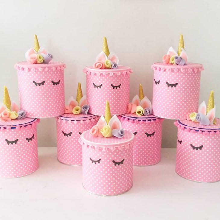 Unicorn birthday souvenir pot