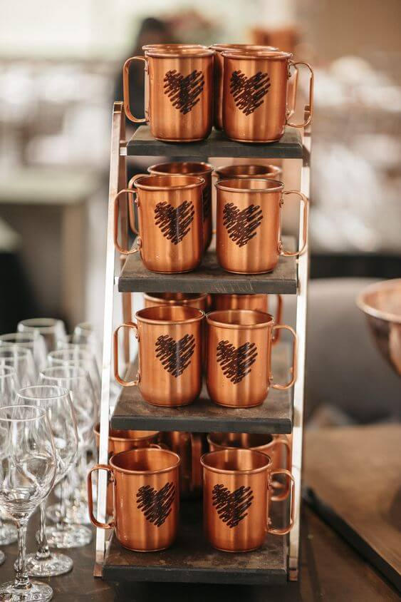 Copper mugs as personalized birthday gifts