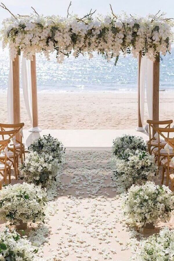 wedding color palette at the beach Wedding Forward Photo