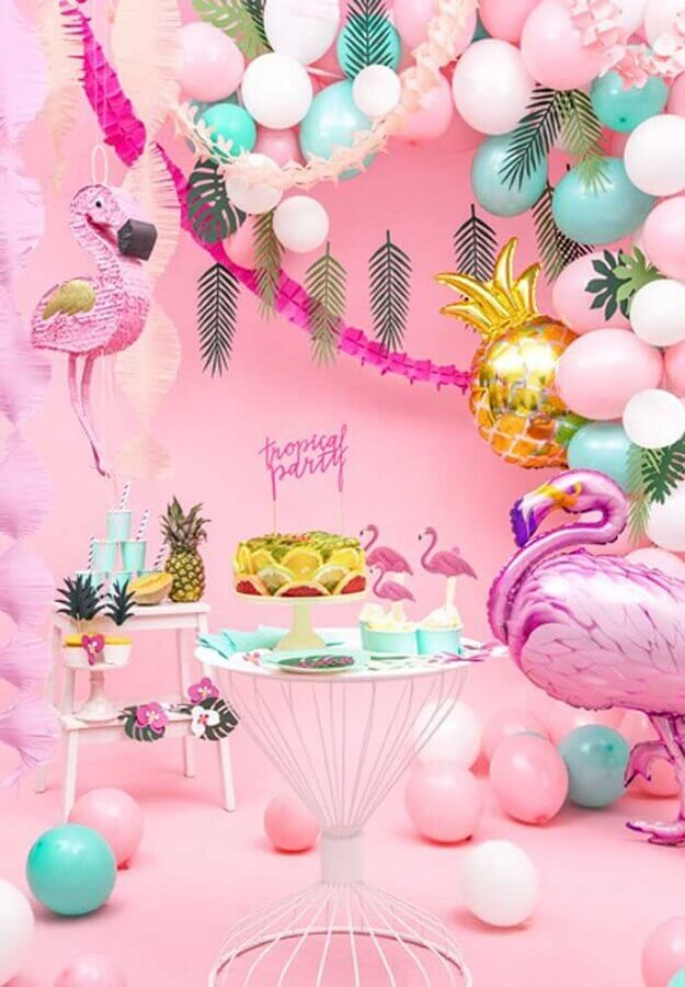 tropical flamingo party pink Photo PartyBox