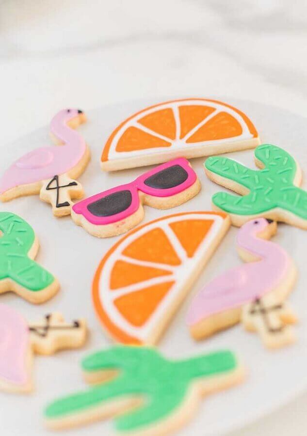 children's flamingo party cookies Creative Thinking Photo