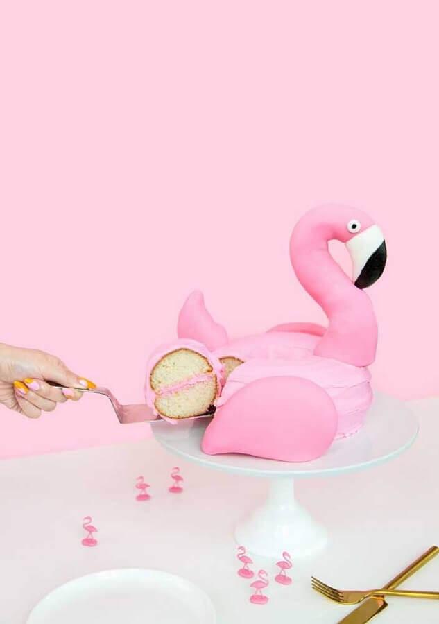 flamingo party cake Photo We Heart It